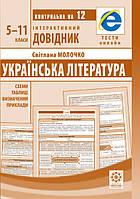 Інтерактивний довідник Українська література 5-11кл + онлайн тести +Q код. Молочко С.Р.