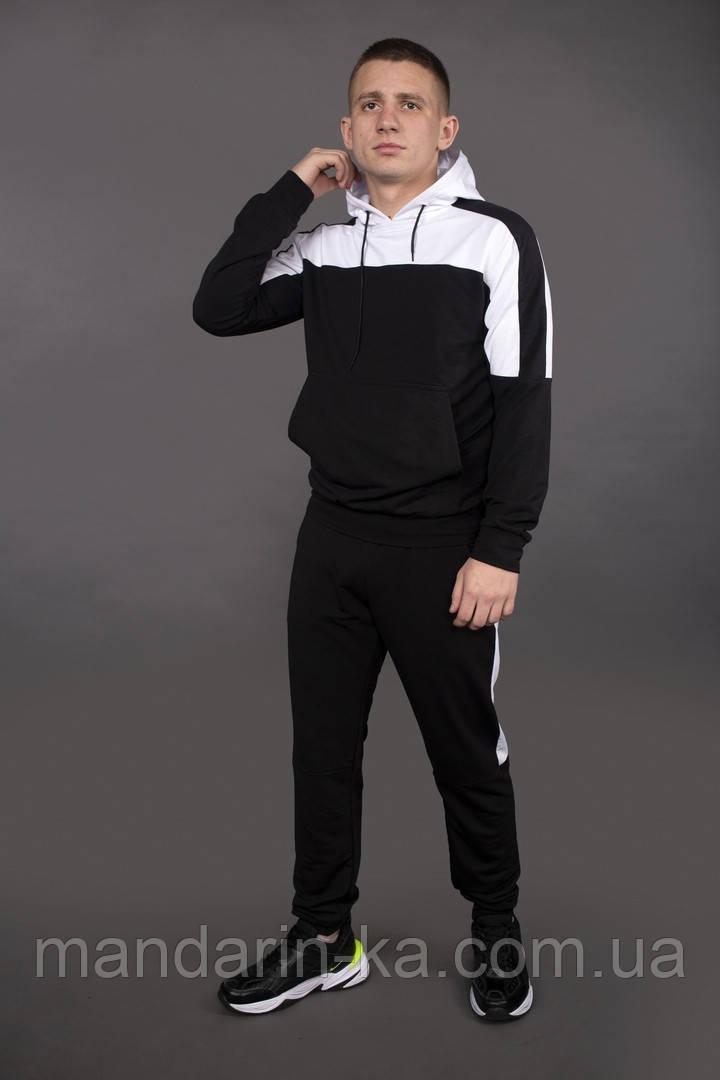 """Спортивный костюм мужской    """"Spirited"""" Intruder черный  с капюшоном + бафф в подарок"""