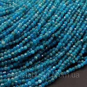 2 мм Апатит , Натуральный камень, Форма: Граненый Шар, Длина: 40 см, фото 2