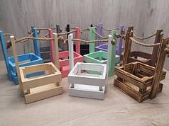 Ящики декоративные цветные. Ящик для декора.