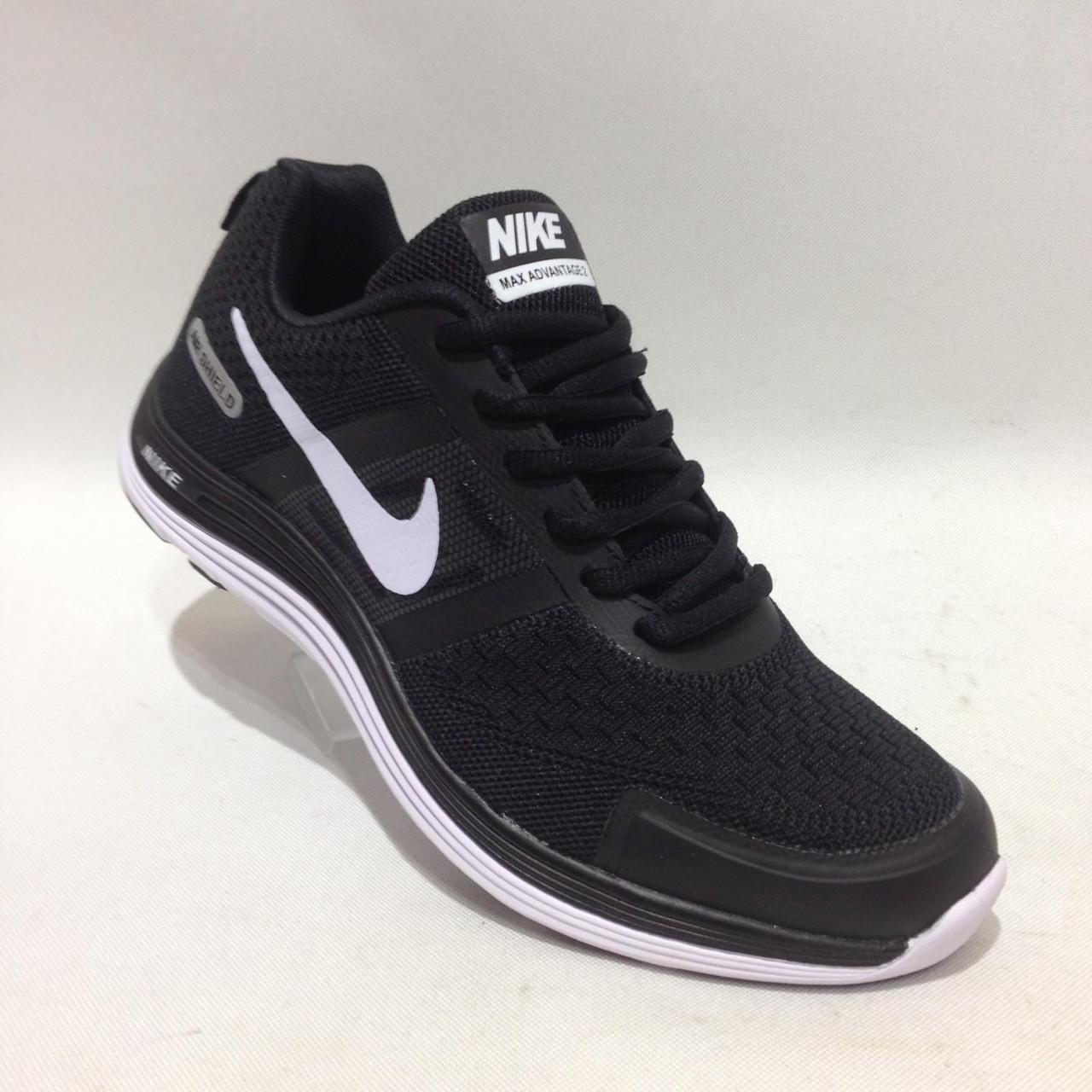 Кроссовки мужские Nike Air Zoom сетка черные летние