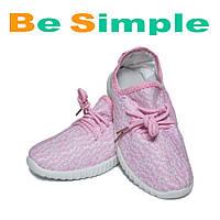 Кроссовки Adidas Yeezy Boost 350 спортивные Розовый (35-41 р.)