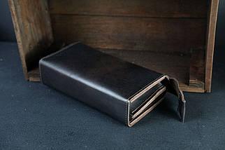 Гаманець Тревел Шкіра Італійський краст колір Кави, фото 2