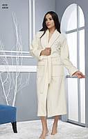 Бамбуковый халат турция длинный (натуральный), размер L/XL, Nusa