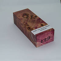 Стабилизированная древесина брусок Кап тополя, RESINOL, 124х47х34