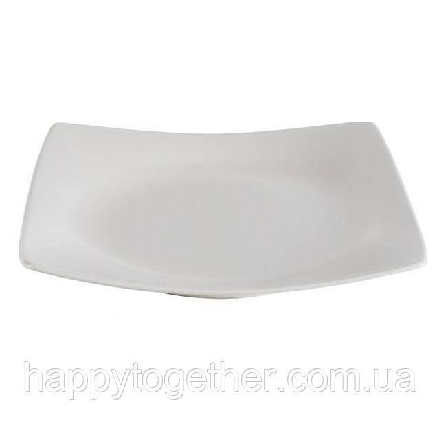 """Тарелка Ipec """"London White"""" обеденная 25х25 см"""