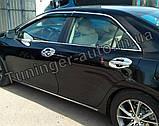 Хром накладки под ручки Toyota Camry 50 2011-2014 (Autoclover C066), фото 4