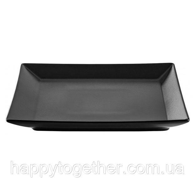Тарелка Ipec Tokyo Black обеденная 26х26 см