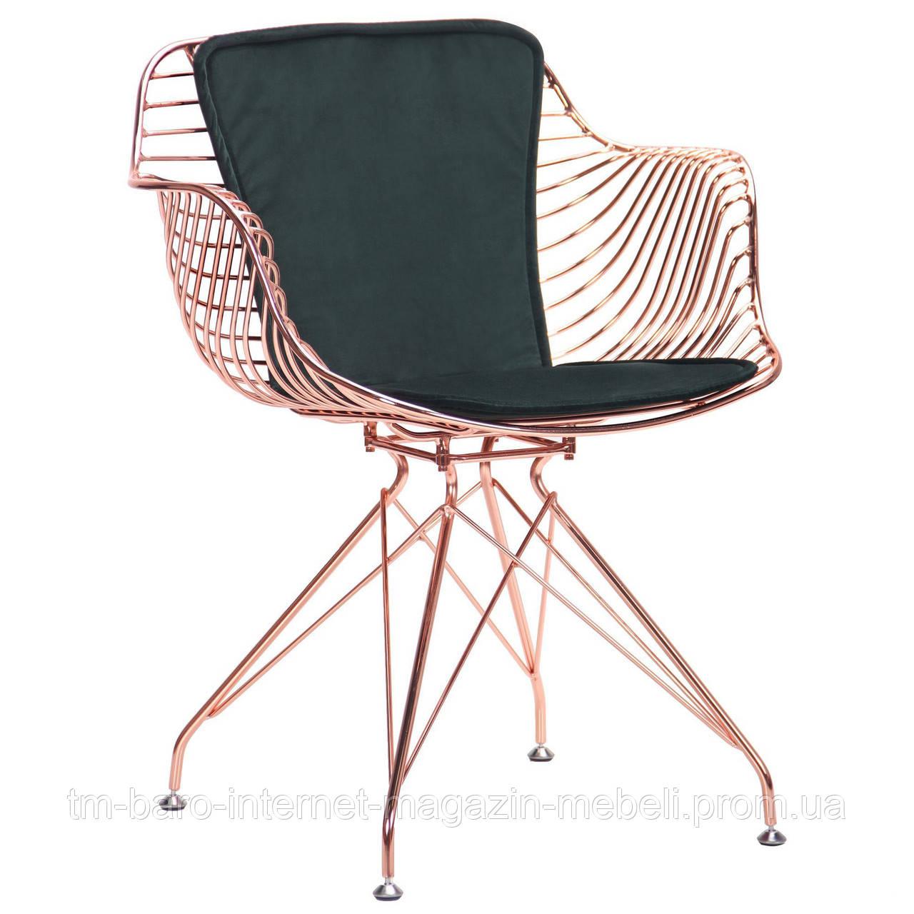 Кресло Ibis (Ибис), rose gold, emerald, Бесплатная доставка