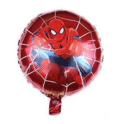 """Фольгированный шар круг человек паук 18"""" Китай"""