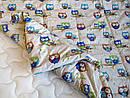 Одеяло конопляное демисезонное Совушки, фото 5
