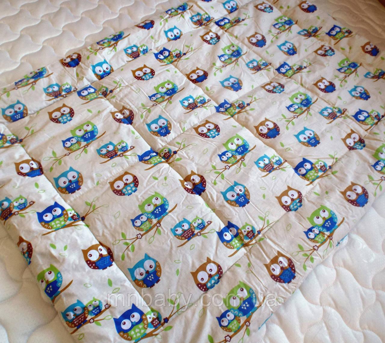 Одеяло конопляное демисезонное Совушки