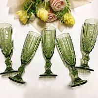 Набор бокалов DS Vintage Green для шампанского 180 мл 6 шт