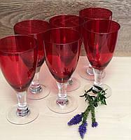 Набор бокалов DS Red cap для вина 300 мл 6 шт