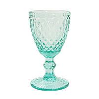 Набор бокалов DS Cedar mini turquoise для вина 250 мл 6 шт