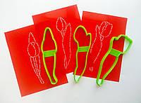 "3D формочки-вырубки для пряников ""Тюльпан 17"" (набор)"