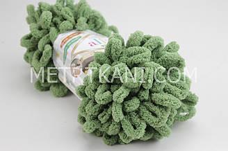Нить плюшевая  зеленого цвета №НП-485
