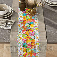 Дорожка раннер для стола хлопок интерьерная ПАСХА, скатерть на стол пасхальная, раннер на стіл, скатертина