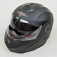 Мотошлем интеграл (full face) FGN 889 (ABS, размер L-XL-58-62, черный)