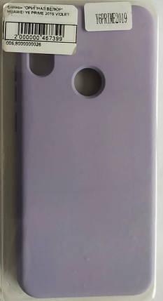 Силиконовый чехол Original Silicone Case Huawei Y6 Prime 2019, Violet, фото 2