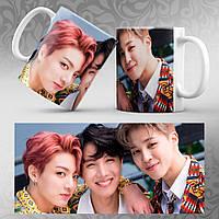 Чашка 330 мл. белая K-Pop BTS 069 Jungkook Jimin J-Hope
