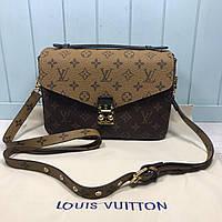Женская сумка на и через плечо Louis Vuitton Pochette Metis Monogram LV Луи Виттон реплика