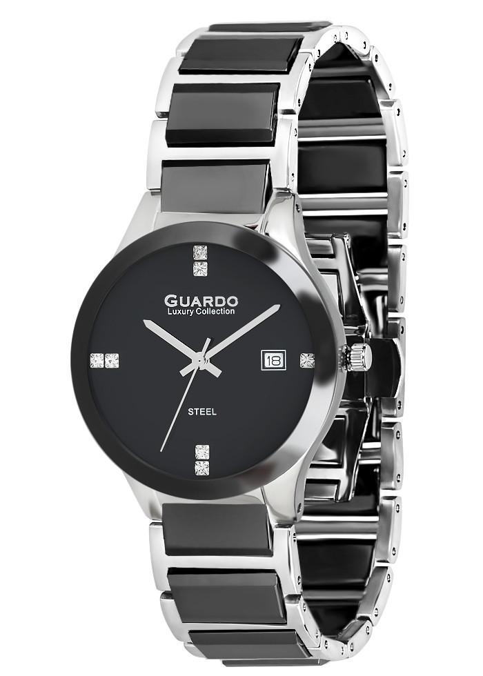 Годинники жіночі Guardo S005801 чорно срібні