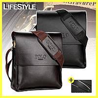 Мужская сумка Polo Videng / Сумка через плечо + нож-визитка в подарок!