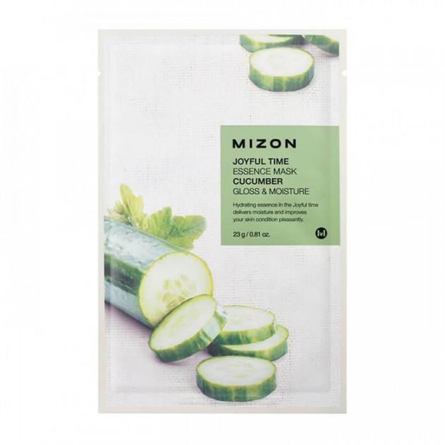 Тканевая маска для лица с огурцом Mizon Joyful Time Essence Mask Cucumber , 1шт.