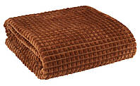 Флисовый плед в оригинальном исполнении 140х200 см коричневый
