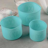 """Набор форм для выпечки """"Куличики"""", 3 шт,  силиконовые формы для Пасхи, набор из 3 шт, фото 1"""