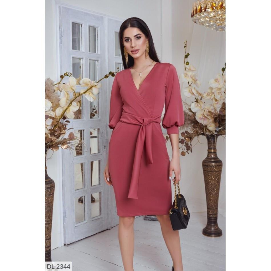 Сукня в діловому стилі з трикотажу