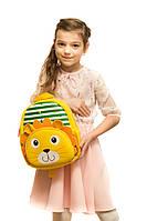 Рюкзак дошкольный TOCHANG Лев полосатый желтый водонепроницаемый ультралегкий система AIR MAX унисекс 3-7 лет