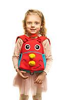 Рюкзак дошкольный TOCHANG Мамонтьонок красно голубой  ультралегкий ремень безопасности  унисекс 1-2 года