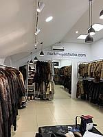 Норковая шуба с капюшоном 48 размера темная норка