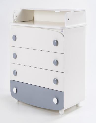 Комод-пеленатор Верес 600 Слім (білий/сірий)