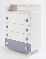 Комод-пеленатор Верес 600 Слим (белый/серый)