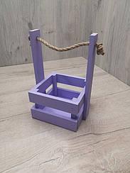 Ящик декоративний кольоровий. Ящик для декору. Ящик кольоровий з ручкою.