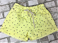 Женские шорты желтые