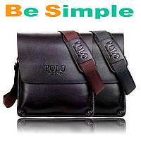 Стильная мужская кожаная сумка Polo Videng  Есть Подарок