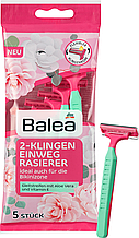 Женские одноразовые станки  Balea Women Einwegrasierer 2-Klingen 2 леза 5 шт
