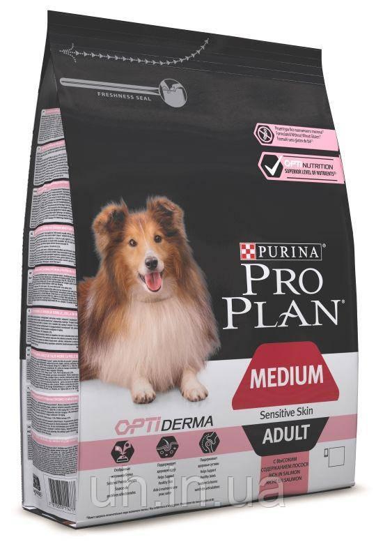 Про План Dog Medium Adult сухой гипоаллергенный корм для средних пород c лососем 14КГ