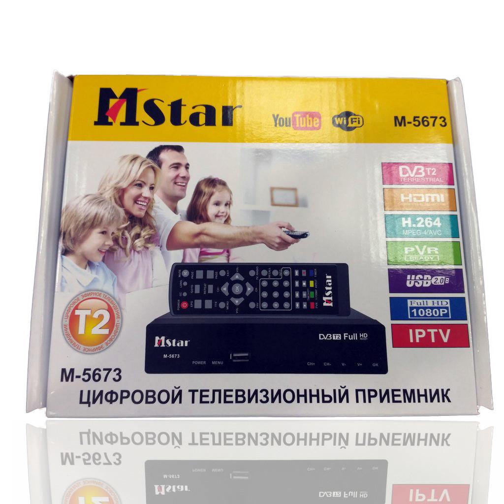 Цифровий ТВ тюнер Т2 Mstar M-5673 з Wi-Fi, USB, YouTube