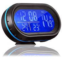 Электронные автомобильные Часы VST 7009V с подсветкой | Авто часы в машину (Black)