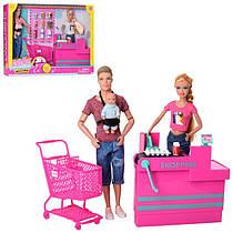 Набір ляльок сім'я - лялька типу барбі і кен, пупс, набір супермаркет, аксесуари, серія ляльок Дефа (Defa), 8351