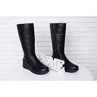 Кожаные женские Сапоги дутики овчина - качественная женская обувь от украинского производителя