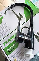 Смеситель для кухни из термопластичного пластика Plamix mario 011 black
