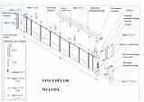 Двері гармошка Melody мускатний горіх, фото 3