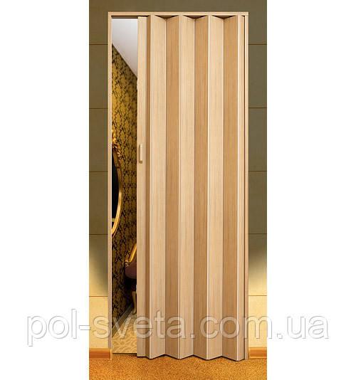 Дверь гармошка  Melody мускатный орех