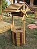 Колодец декоративный деревянный